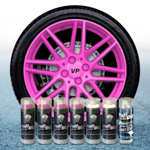 FullDip Wheel Kit - Fluorescent - PINK - Gloss