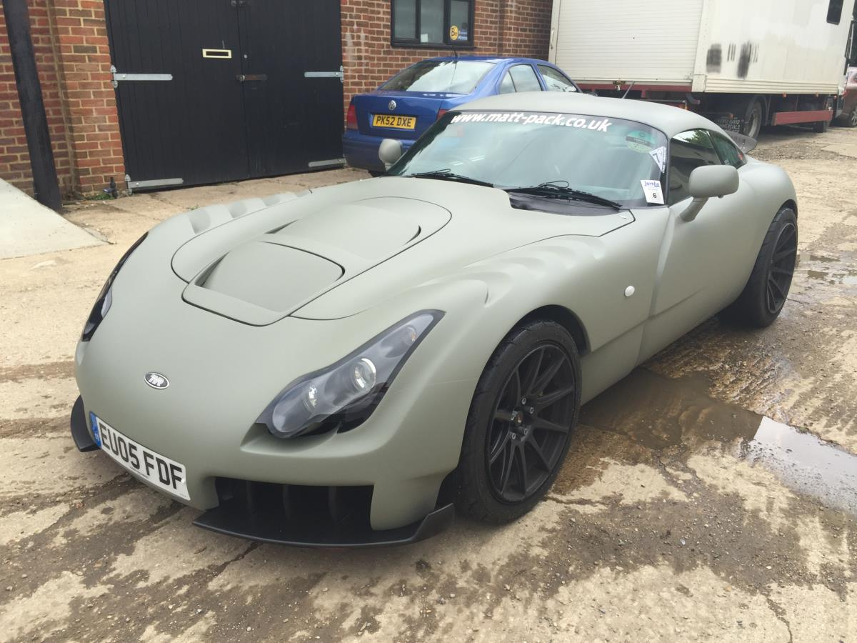 TVR Sagaris - Matte finish. NATO grey / Green colour.