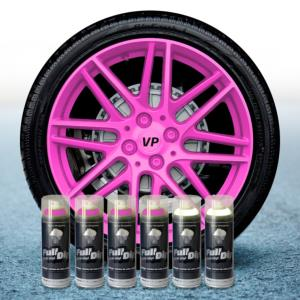 FullDip Wheel Kit - Fluorescent - PINK - Matte
