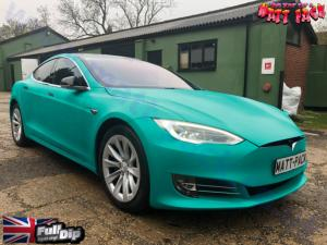 Tesla Model S - Matte finish. Kingsley Blue colour.