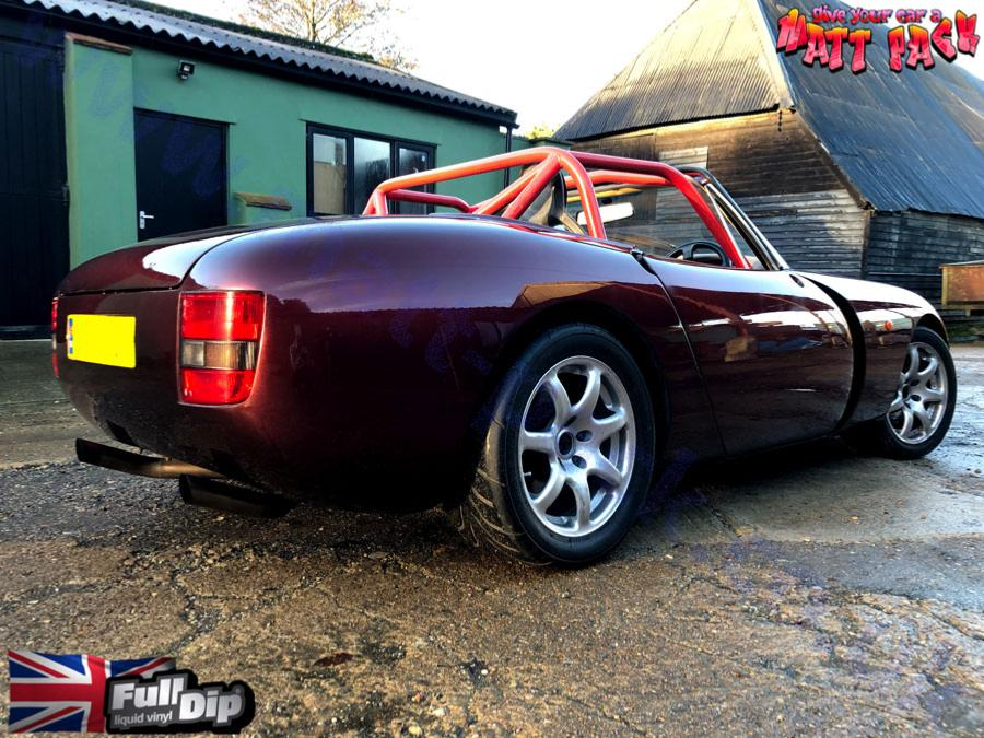 TVR Griffith racecar - PRO Gloss finish - Fully flat and polished for show finish. Stealth Red colour.